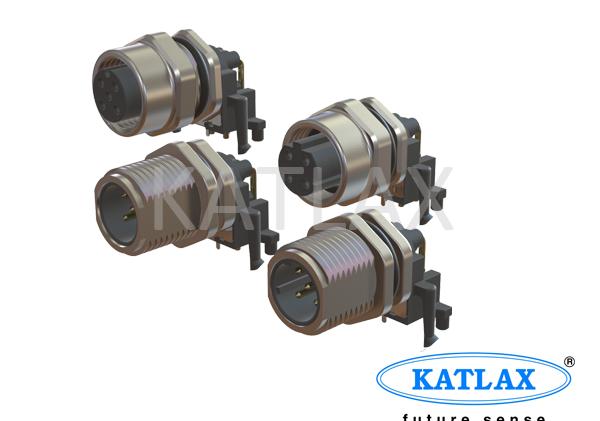 M12 PCB mount Angled Connectors