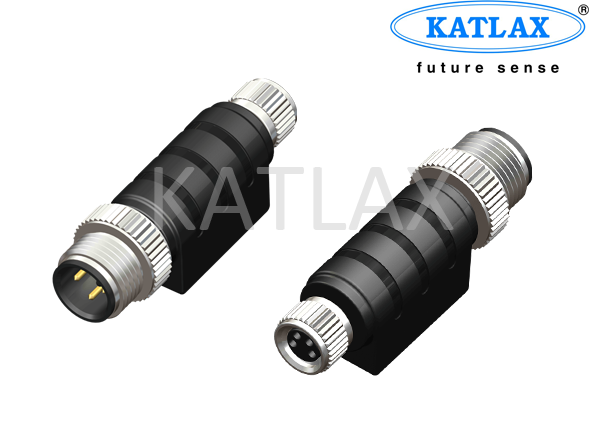 M12 to M8 Male Female Gender Changer Adapter